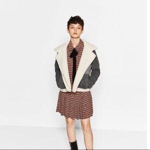 Zara zipped fleece jacket